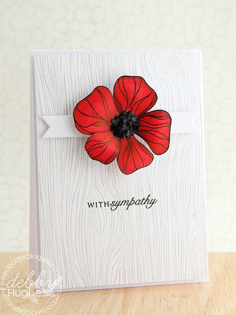 Just such an elegant design and the flower is a wow.  Beautiful as a sympathy card!