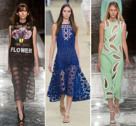 Spring/ Summer 2014 Fashion Trends: Transparency and Lace  #fashion #fashiontrends