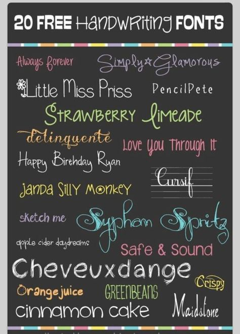 Fonts - limeade and happy- go to dafont.com to download