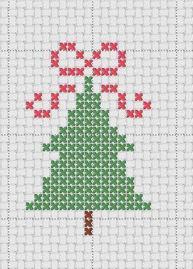 Immagini Di Natale A Punto Croce.Albero Di Natale A Punto Croce Arts And Crafts Cross
