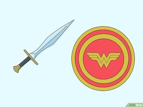 How to Make a Wonder Woman Costume (with Pictures) -  don't include a cape, many child versions of the costume have one. Simply find a long stretch of  - #badasswomen #costume #pictures #woman #womenprofile #womenstyle #wonder #wonderwomen