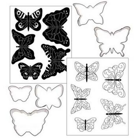Butterfly template/stencil for chocolate decorations | easy.