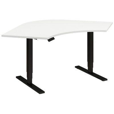 Latitude Run Kitts Height Adjustable Standing Desk Color White