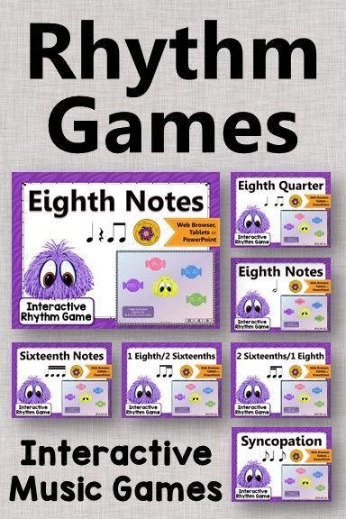 Music Games: Interactive Rhythm Games {Yum Yums Bundle} | Elementary