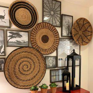 Handwoven Baskets Wall Art Set Of 4 Pottery Barn Basket Wall Art Baskets On Wall Hanging Wall Baskets