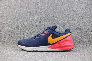 c3da8fe1e6ef Mens Nike Air Zoom Structure 22 Sneakers Black Blue Orange Peel Bleu AA1636  400