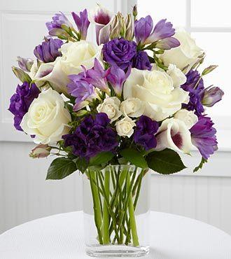 Purple and white flower arrangement new house designs purple carnation wedding bouquets google search someday mightylinksfo