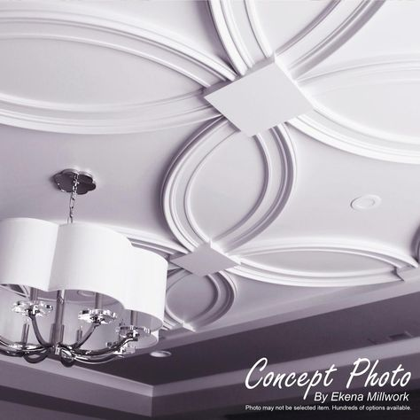 Ceiling rings are often used in conjunction with ceiling medallions in highlighting focal points like chandeliers and ceiling fans. However, ceiling rings can also be used on the wall to accent mirrors, Ceiling Tiles, Ceiling Decor, Ceiling Fan, Ceiling Lights, Accent Ceiling, Ceiling Painting, Ceiling Panels, House Ceiling Design, Ceiling Design Living Room