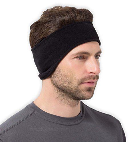 Top Headwear Wrap Around Fleece Ear Muff Black