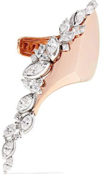 Yeprem 18-karat Rose And White Gold Diamond Ring - Rose gold pXopDgXcMd