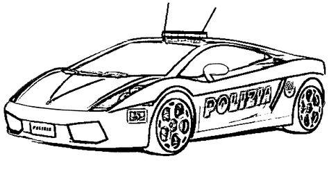 Polis Arabasi Boyama Sayfasi