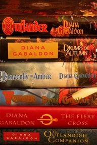 Outlander series by Diana Gabaldon-my friend said this series is definitely worth reading.