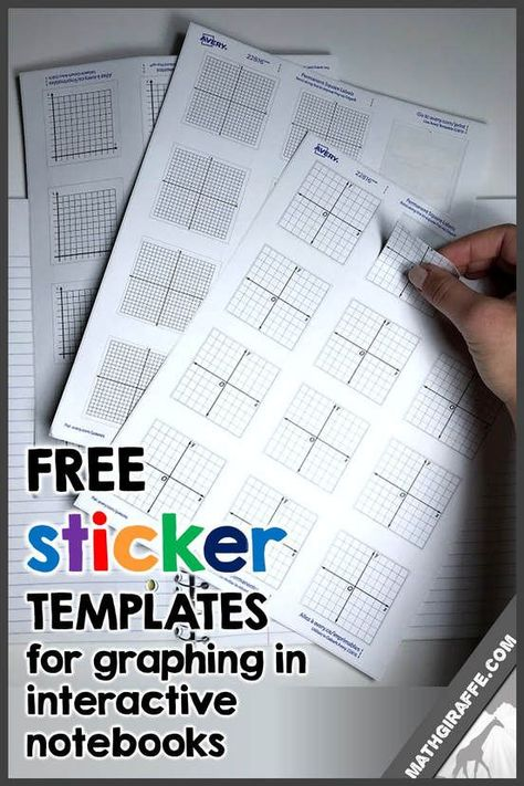 Graphing Sticker Templates - Download Math Notebook Labels