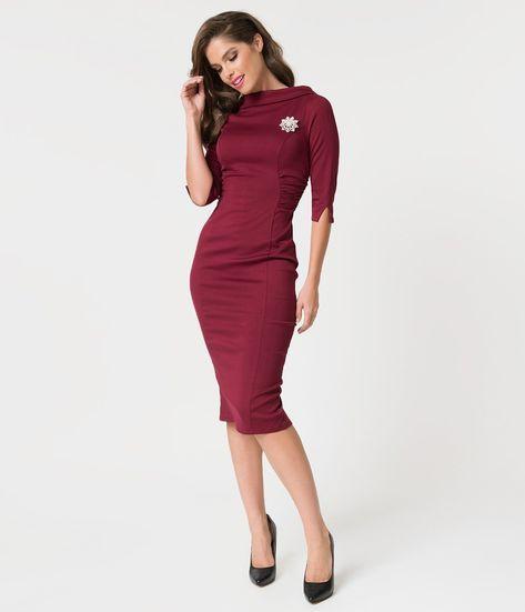 c6632474e21 Stop Staring! 1960s Style Tan   Black Glen Check Rivka Wiggle Dress ...
