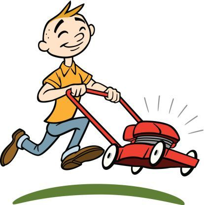 Lawn Mower Guy Cartoon Man Cartoon A Cartoon