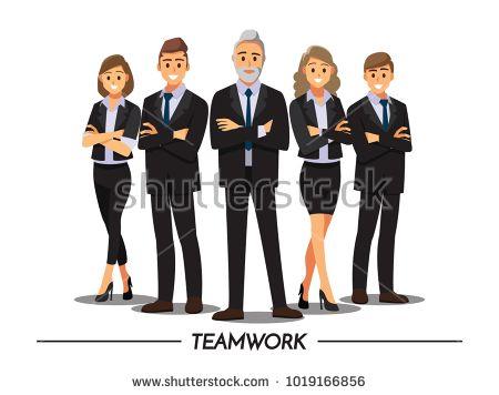 Business People Teamwork Vector Illustration Cartoon Character