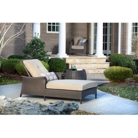 Patio Garden With Images Wicker Chaise Lounge