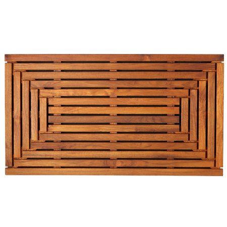 Home Teak Shower Mat Wood Shower Bench Teak Flooring