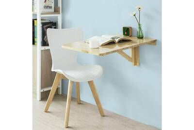 Table Sobuy Sobuy Fwt04 N Table Murale Rabattable En Bois Table