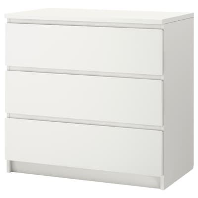 Kullen Chest Of 3 Drawers White 70x72 Cm Ikea Malm Ikea Malm