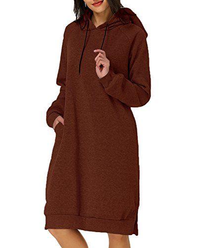 Femmes Sweat à Capuche à Manches Longues Pull Hoodies Lady Hiver Robe Pull