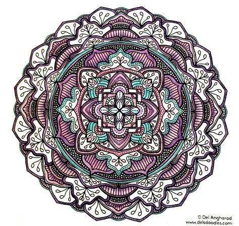 Purple Mandala, my coloring.