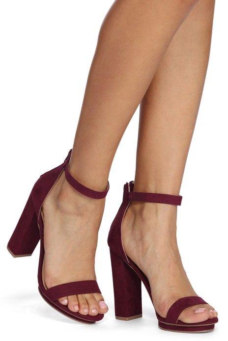 newest collection exquisite design online shop Basic Block Heels | WindsorCloud in 2019 | Burgundy heels ...