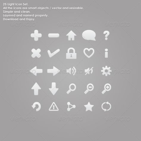 25 Light Icon Set