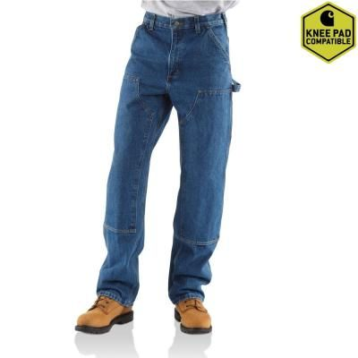 Carhartt Mens Relaxed Triple Stitched Straight Leg Jeans Trousers