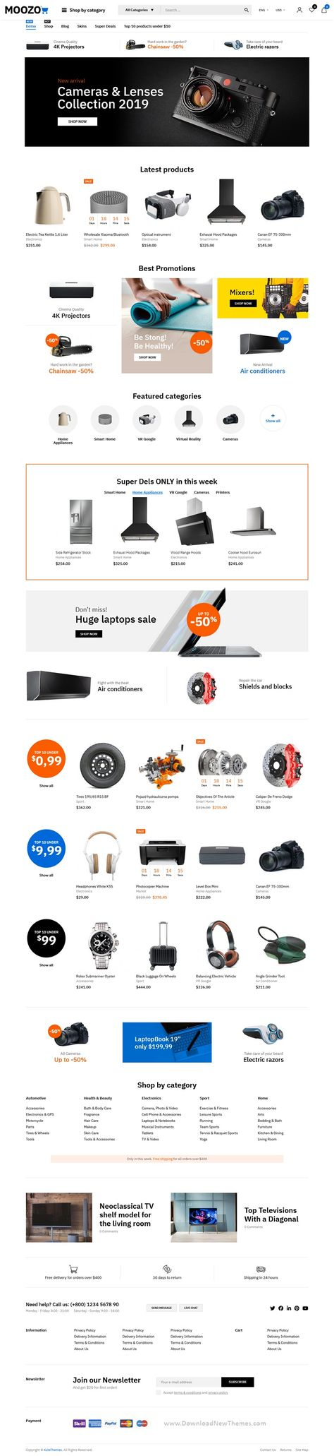 Moozo Tools, Furniture, Fashion, Jewellry, Market WooCommerce Theme