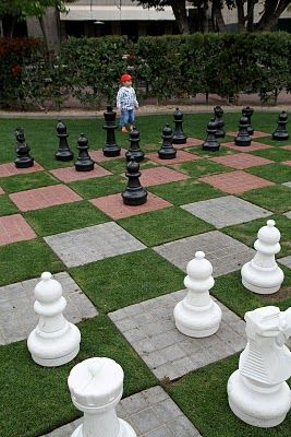 Lawn Chess   But Instead Of Pavers And Grass Do Different Colored Pavers.  On A Much Smaller Scale As Well. Maybe Instead Of Pavers, Make A 5x5 Chesu2026