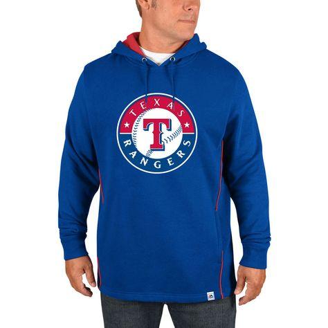 Texas Rangers Majestic Lefty Righty Pullover Hoodie Royal Pullover Hooded Sweatshirt Hoodies Hoodies Men