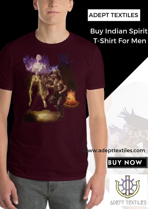 305ab859c Are you looking for custom t-shirts online? Visit Adept Textiles to Buy  Short-Sleeve Indian Spirit T-Shirt.