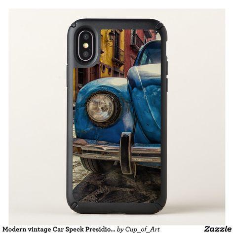 Modern vintage Car Speck Presidio iPhone X Case