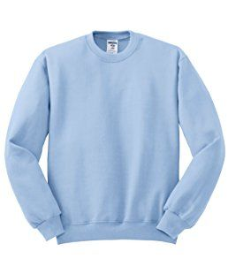 Jerzees Men S Nublend Crew Neck Sweatshirt Light Blue Small Sweatshirts Crew Neck Sweatshirt Crew Neck Sweater