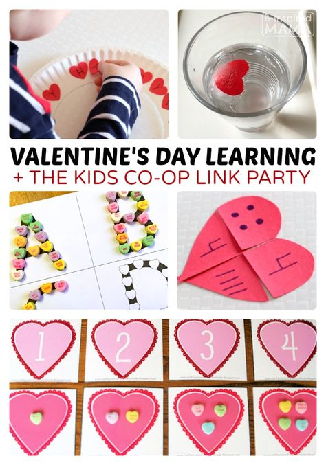 Valentine's Day Early Learning Ideas via B-Inspired Mama