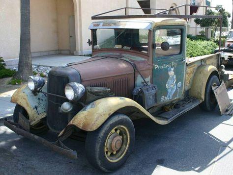 Old Ford Pickup | Vintage 1933 Ford Rat Rod Truck