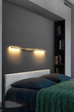 Designer Wall Lamp In Satin Br