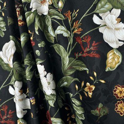 Waverly Garden Images Black Fabric Floral Drapery Fabric Shower Curtains Floral Drapery Fabric