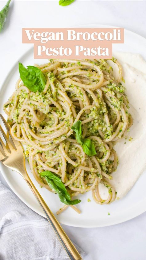 Vegan Broccoli Pesto Pasta