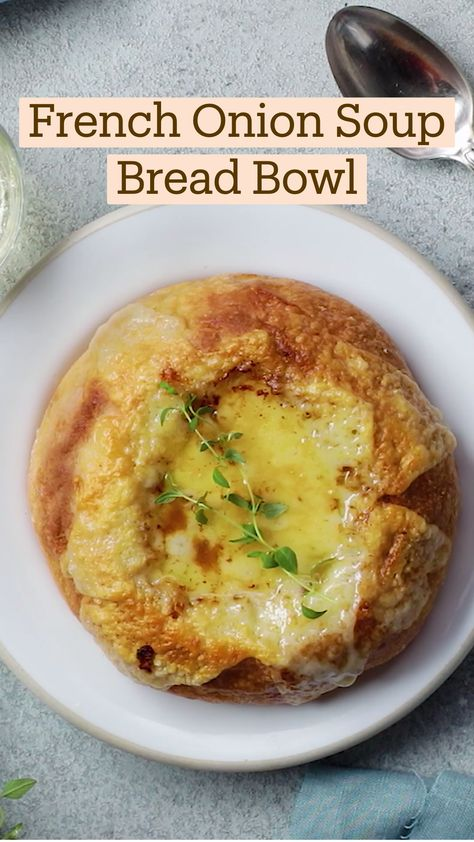 French Onion Soup Bread Bowl