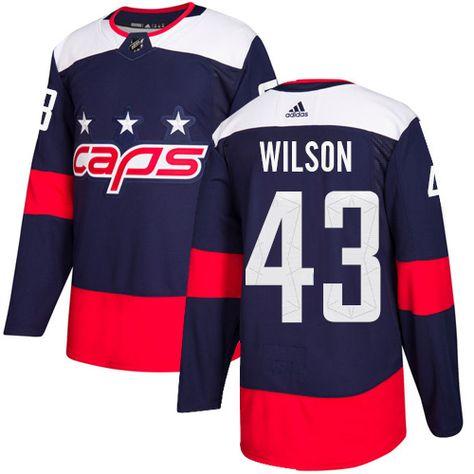 Adidas Capitals  43 Tom Wilson Navy Authentic 2018 Stadium Series Stitched NHL  Jersey bb5b065a756