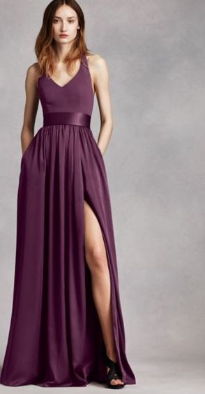 Vera Plum Bridesmaid Dress For Jewel Toned Wedding Pinteres