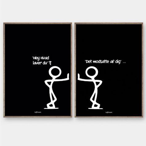 Stickmen Godnat - De originale Stickmen plakater fra byFrank