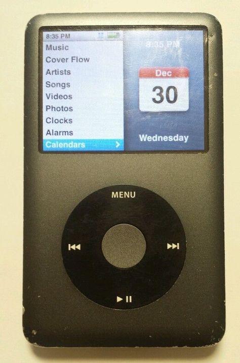 excellent condition apple ipod classic 6th generation black mb565 a rh pinterest com ipod classic manual reset ipod classic manually manage music