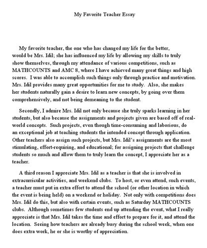 Teach Essay Writing My Favourite Teacher Math Counting Favorite Essays 10 Line In English For Clas 7 Hindi