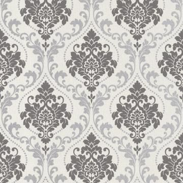 Royal Damask Is A Medium Scale Damask Pattern In Neutral Colours With Metallic Detailing It Will Create A Luxurious And Damask Wallpaper Damask Home Wallpaper