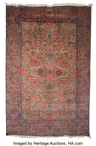Kerman Carpet Southeast Persia Circa 1930 18 Feet Long X 11 Feet 8 In Wide Carpet Persia Kerman