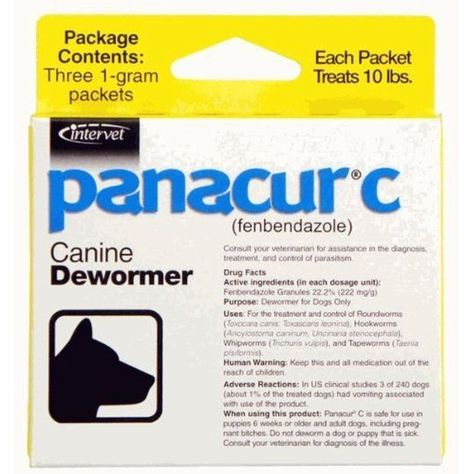 Panacur C Canine Dewormer Dogs 1 Gram Each Packet Treats 10 Lbs 3 Packets Want To Know More Click On The Image This Is An Af Canine Pet Health
