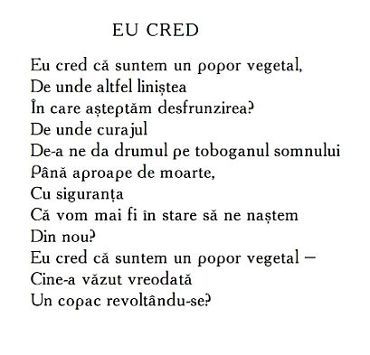 Ana Blandiana Poezii - Eu Cred | Poems, Quotes, Poetry